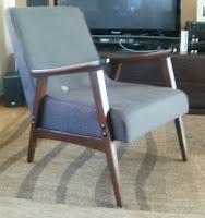 odnowiony fotel z PRL