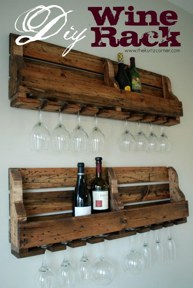 Diy Rustic Wine Rack
