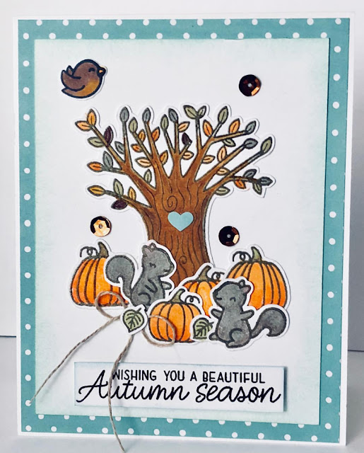 Sunny Studio Stamps: Happy Harvest Beautiful Autumn Customer Card by Gail