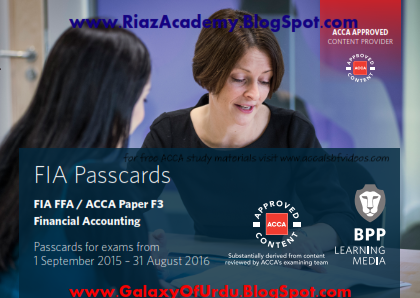 2016-ACCA-F3-PASSCARDS - FINANCIAL ACCOUNTING