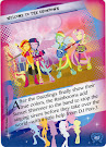 My Little Pony Welcome to the Showdown Equestrian Friends Trading Card