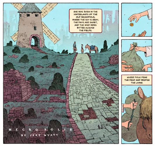 Jake Wyatt's gorgeous fantasy webcomic, 'Necropolis,' begins anew, with print editions to follow
