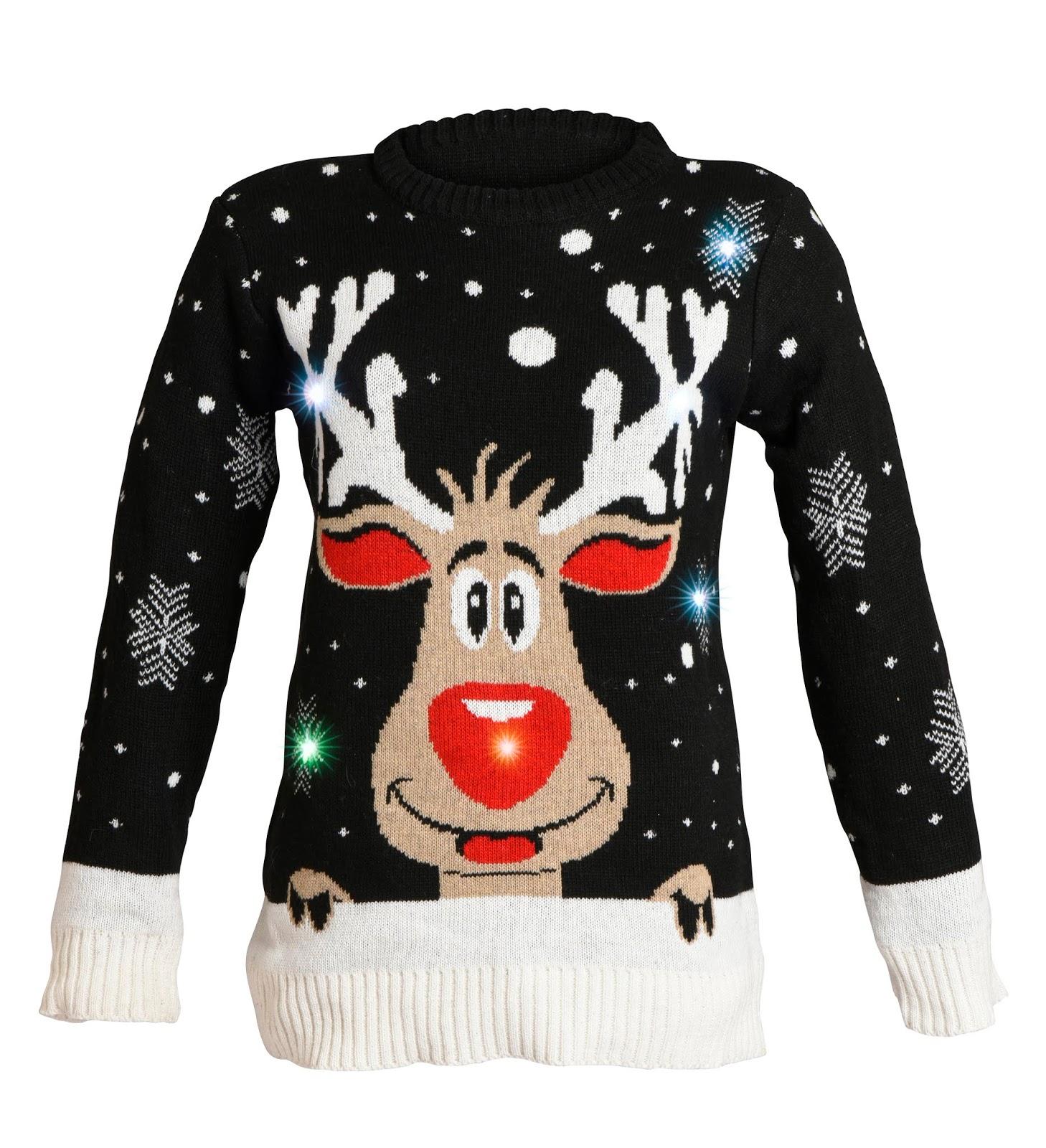 Berömda Fias Jul - Let it snow: Jultröjor med LED AA-28