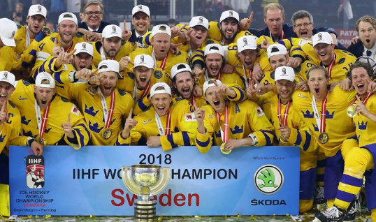 IIHF Men's Ice Hockey World Championship Denmark 2018, final, defeated, sweden, switzerland, usa, canada ,