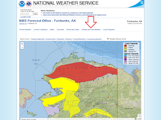 Screenshot from the National Weather Service page.