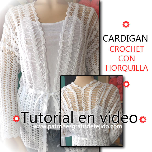 tutorial cardigan horquilla