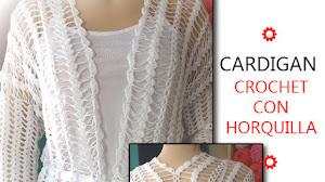 Aprende a tejer un cárdigan con horquilla y crochet / Tutorial en video