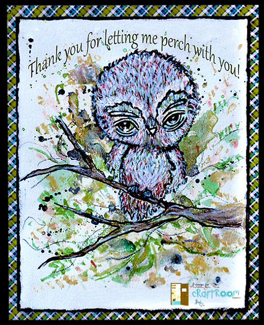 Big Eyed Owl Watercolor Card: Oddball Art, DecoArt