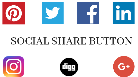 How To Add Modern Social Share Button in Blogger or Wordpress