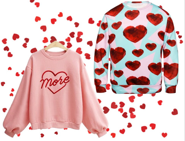 bluza, gamiss, walentynki, motyw serca w modzie
