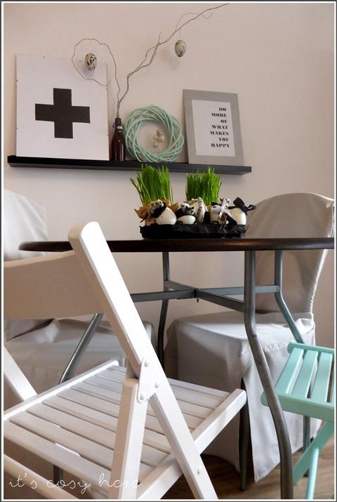 Malowane krzesła... i mini jadalnia w wiosennym wydaniu...