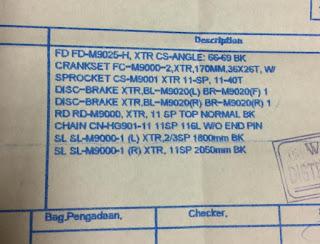 Spec Groupset XTR 2x11 speed Terbaru seri M9020 M9000