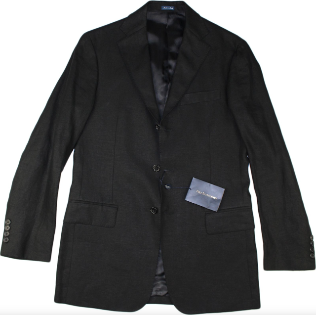 Polo Ralph Lauren Black Linen Blazer