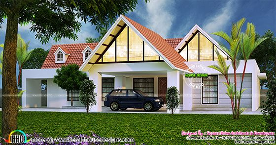 Awesome single floor dormer window home