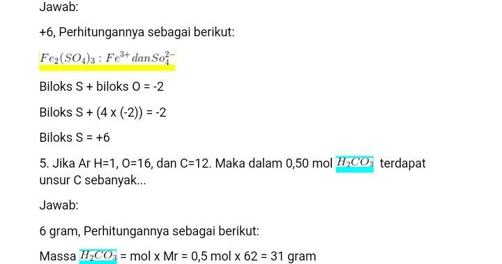Soal Dan Kunci Uas Ipa Kimia Semester 1 Kelas 10 Sma Ma Kumpulansoal7