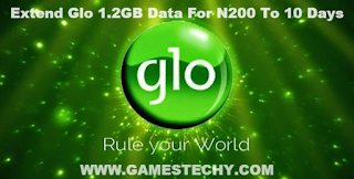 Extend Validity Of Glo 1.2GB For N200 To 10 Days