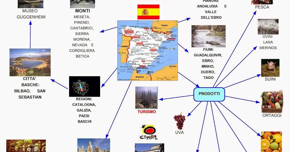 Bilbao Cartina Spagna.Mappa Concettuale Spagna Scuolissima Com