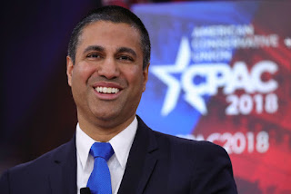 Chairman of the Federal Communications Commission Ajit Pai speaks at the Conservative Political Action Conference (CPAC) at National Harbor, Maryland, U.S., February 23, 2018. (Credit: Reuters/Joshua Roberts) Click to Enlarge.