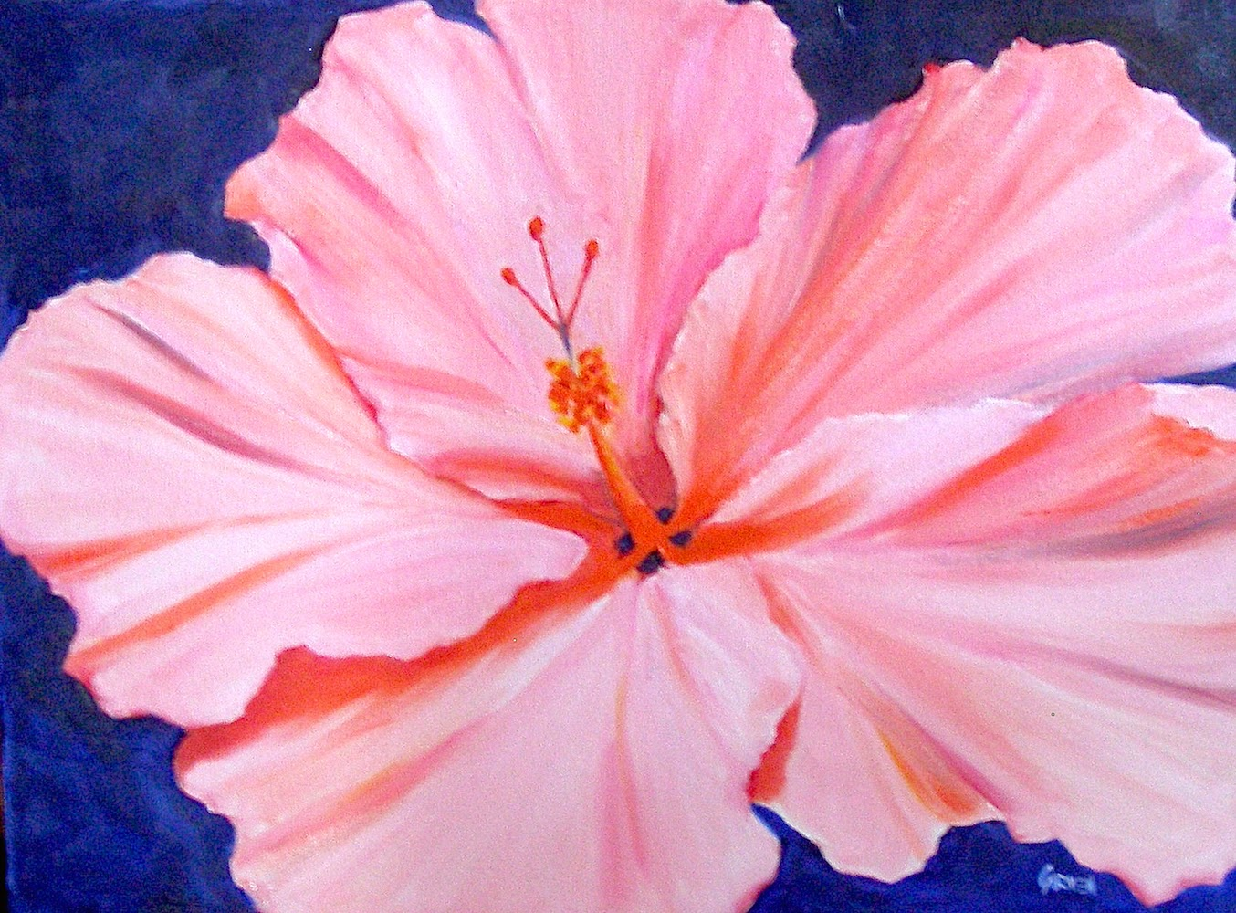 Still Life Large Flower Paintings on Canvas - by Texas ...  Easy Big Flower Paintings
