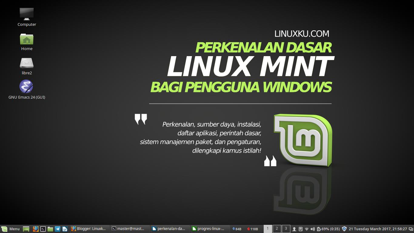 Perkenalan dasar linux mint bagi pengguna windows