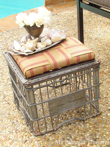 how to repurpose an old milk crate