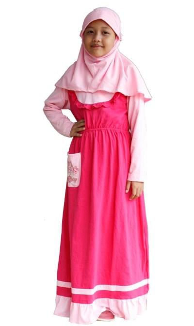 Contoh Baju Muslim Anak Poeti anak perempuan