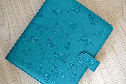 Butterfly teal deboss A5 organiser review