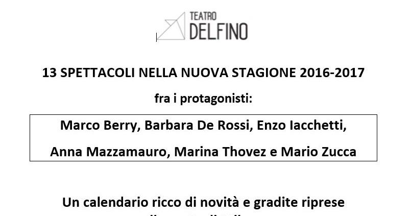 Teatro Delfino Milano: la stagione ed i video della conferenza stampa