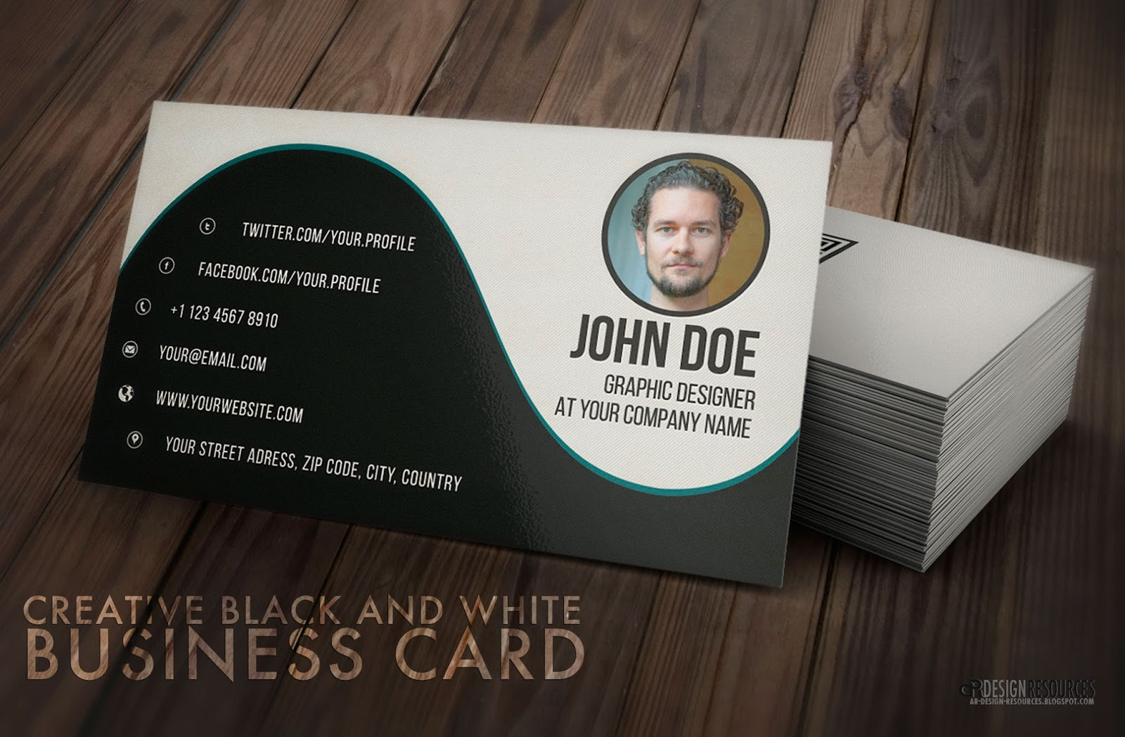 Free photoshop tutorials creative black white business card baditri Choice Image