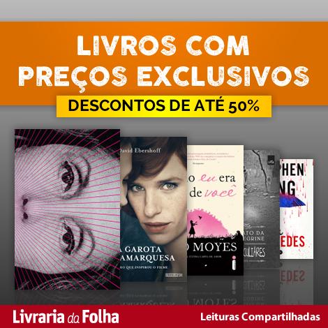 Parceria com a Livraria da Folha - descontos de até 50%