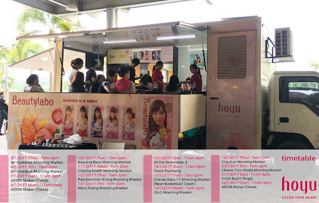 Hoyu Malaysia Free Hair Colouring Session Mobile Moving Salon Schedule