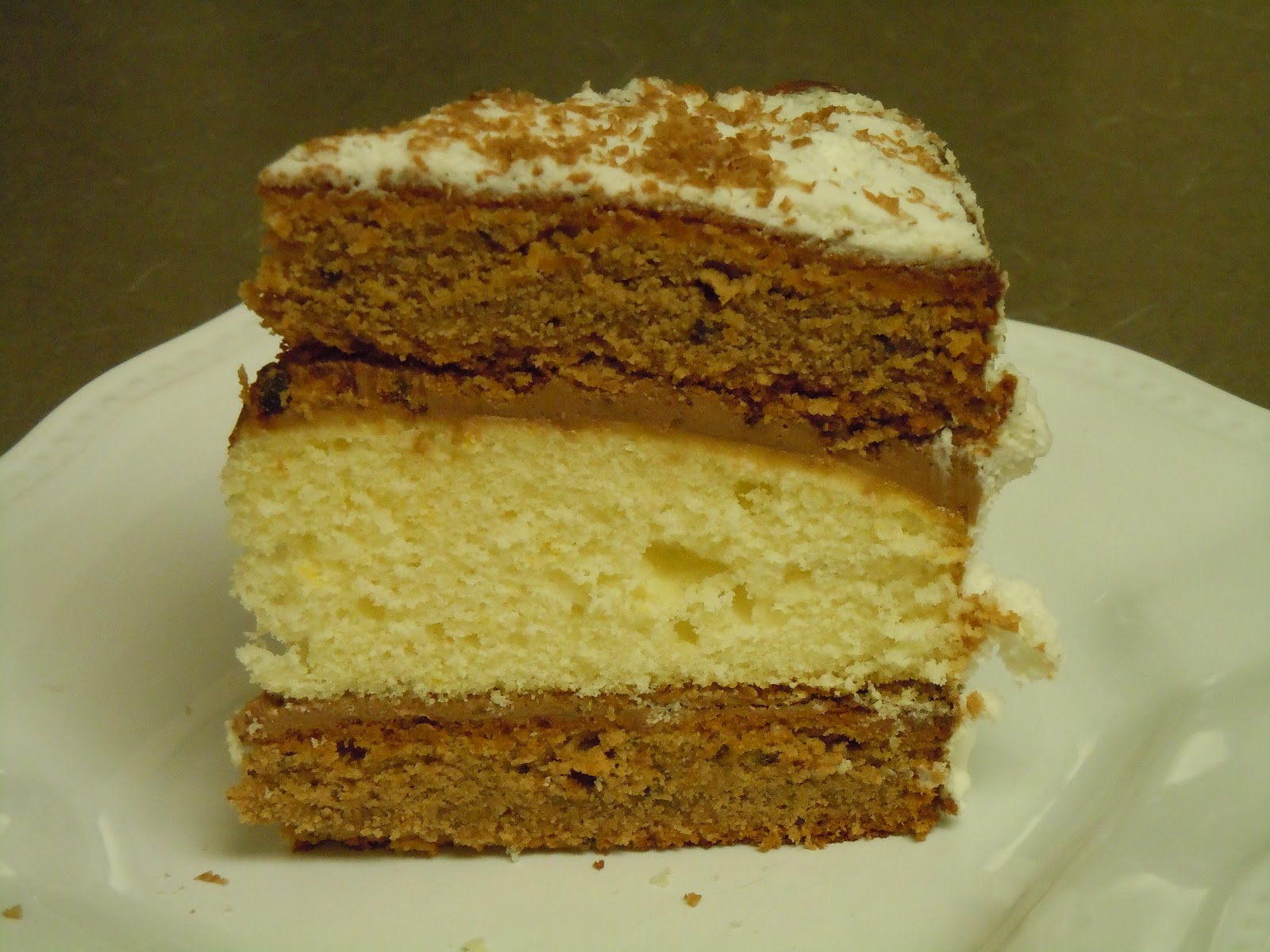 Layered Vanilla Cake Recipes: Let's Cook And Be Friends: Chocolate-Orange And White