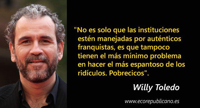 """Willy Toledo irá a juicio por """"atentar"""" contra los sentimientos religiosos"""