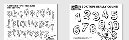 image relating to Printable Box Tops Collection Sheets titled Box Tops 4 Instruction: Printable Variety Sheets Bargains and