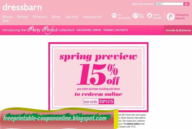 dress barn woman coupons printable