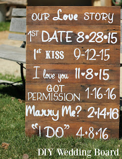 DIY Wedding Board. Our Love Story.