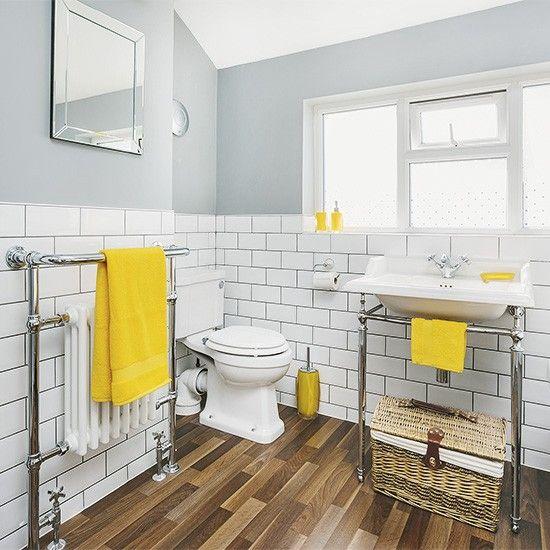 Black White Yellow Bathroom: 10 Lindas Casas De Banho Em Cinza E Amarelo