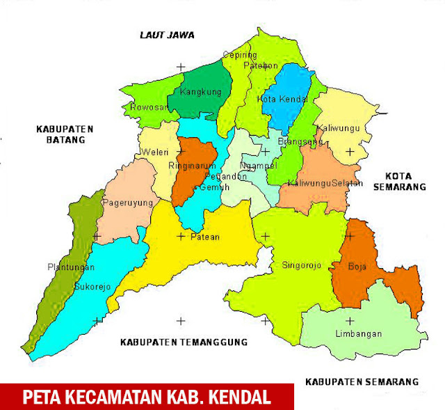 Gambar Peta Kecamatan di Kabupaten Kendal