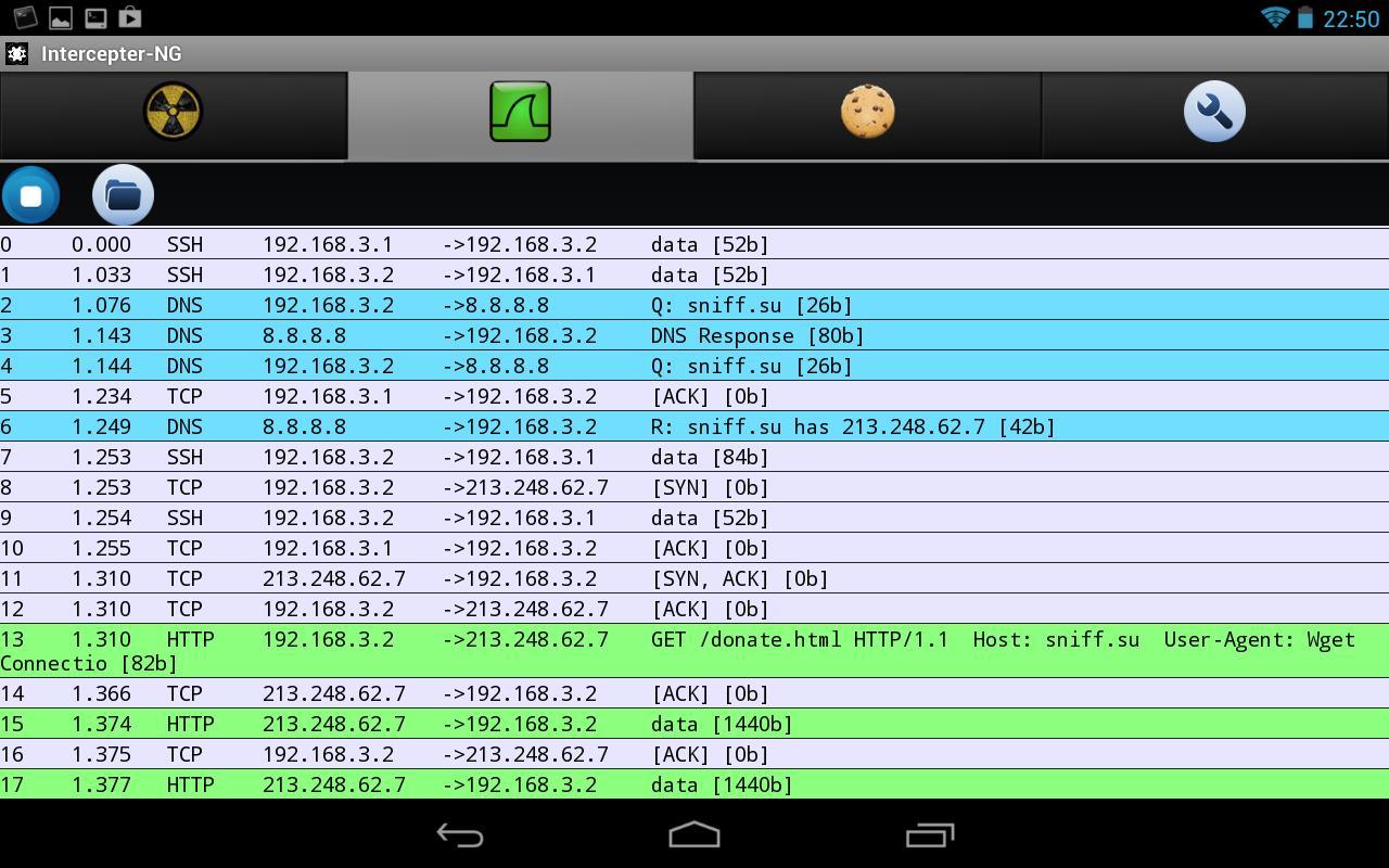 Intercepter-NG v1 9 - Multifunctional Network Toolkit for