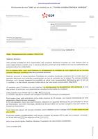 Nouvelle lettre d'edf d'information du changement de compteur