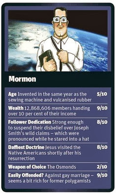 Funny World Religion Top Trumps Cards Mormon Image