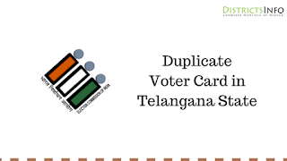 Duplicate Voter Card in Telangana State