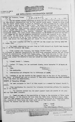 Air Intelligence Report (Pt 2) - UFO Sighting By Colonel Gerald W. Johnson 8-29-1952