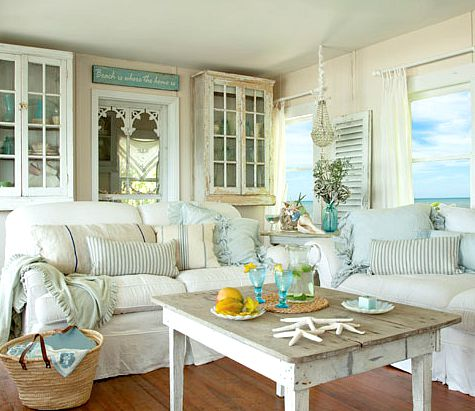 12 Small Coastal Beach Theme Living Room Ideas with Great