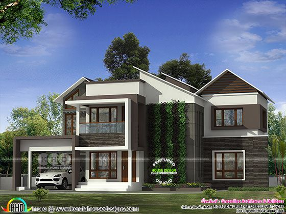 4 bedroom modern house with vertical garden