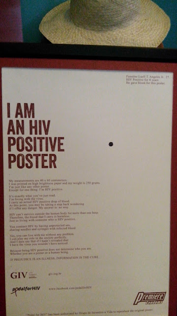 HIV posters were originally developed by Grupo de Incentivo a Vida (GIV), a non-government organization based in Brazil.