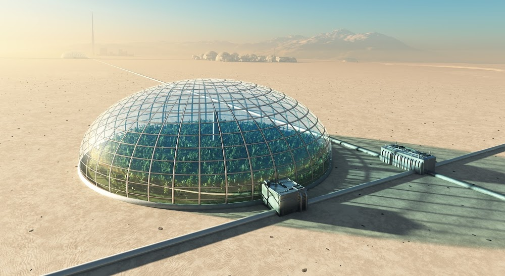 Farming in a dome on Mars by Mike Kiev