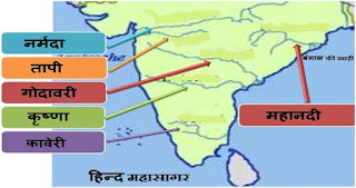 Peninsular River - भारत की प्रायद्वीपीय नदी प्रणाली   India's peninsular river system