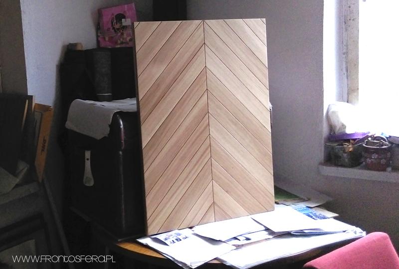 Front z drewna dębowego. Lity front drewniany do kuchni IKEA METOD i IKEA FAKTUM.