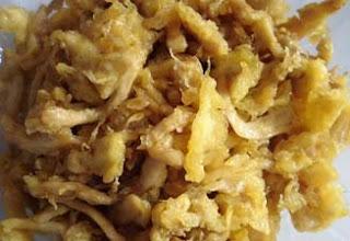 Olahan masakan jamur tiram selain digoreng crispy dapat juga dimasak alakadarnya secara pr RESEP JAMUR TIRAM SUWIR TELUR GORENG